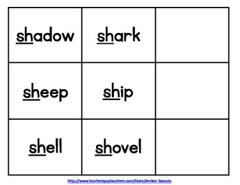 Consonant Digraphs Activities and Printables for English Language Learners