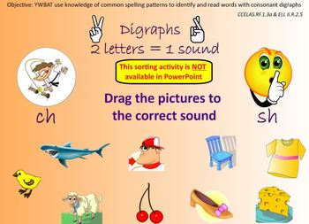 Consonant Digraphs-An Introduction and Sorting Activity