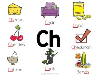 Consonant Digraphs: Anchor Charts & Activities for Sh, Wh, Ch, & Th