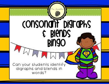 Consonant Digraphs & Blends Bingo