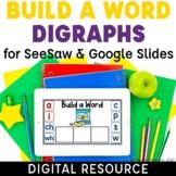 Consonant Digraphs Build a Word Digital Activities Short V