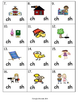 Consonant Digraphs Ch and Sh (initial and final position)