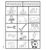 Consonant Digraphs Color Worksheets