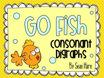 Consonant Digraphs {Go Fish} Word Work [Reading] Station Center Game