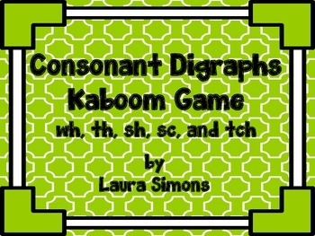 Consonant Digraphs Kaboom Game 2