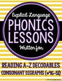 Consonant Digraphs Lessons for Reading A to Z Decodable Books #46-51