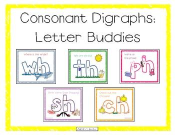 Consonant Digraphs: Letter Buddies