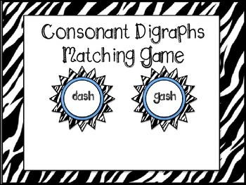 Consonant Digraphs Matching Game