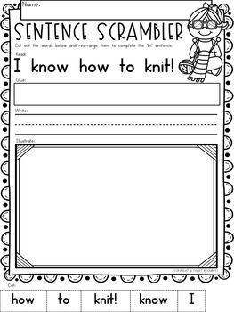 Consonant Digraphs NO PREP kn Printables