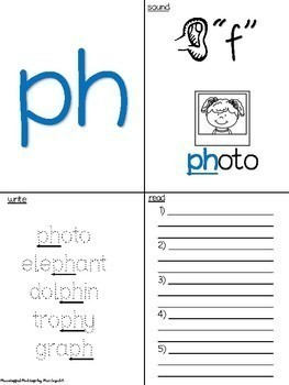 Consonant Digraphs Sample Activity Pack! CH, PH, SH