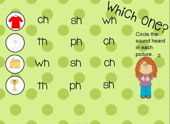 Consonant Digraphs SmartBoard Activities (ch, sh, wh, th)