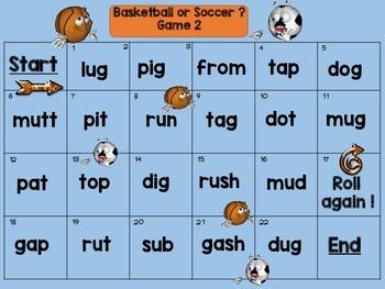 Consonant Digraphs (Sports)
