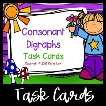 Consonant Digraphs Task Cards