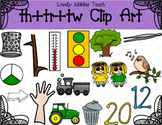 Consonant Digraphs: Th, Tr and Tw Clip Art