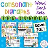 Consonant Digraphs Word Sort Bundle