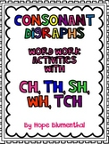 Consonant Digraphs Word Work Activities