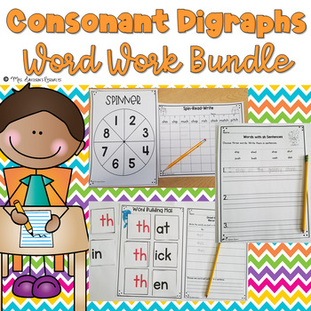 Consonant Digraphs Word Work Bundle