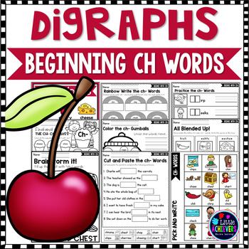 Consonant Digraphs Worksheets - CH DIGRAPHS Worksheets and Activities