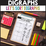 Consonant Digraphs Worksheets SH, CH, TH, WH, PH, KN, WR, QU - Sorting Activity