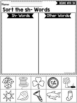 Consonant Digraphs Worksheets - SH DIGRAPHS Worksheets and Activities
