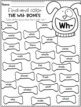 Consonant Digraphs Worksheets - WH DIGRAPHS Worksheets and Activities