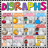 Consonant Digraphs sh th wh ch ph Beginning Digraphs Worksheets -Ending Digraphs