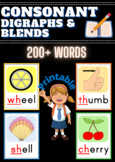 Consonant Digraphs and Blends Flashcards