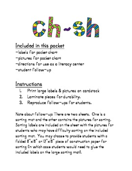 Consonant Digraphs (ch and sh)