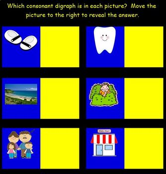 """Consonant Digraphs for the SMART Board:  Mixed Practice of """"Ch,"""" """"Sh,"""" and """"Th."""""""