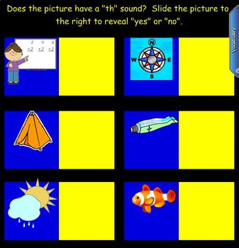 Consonant Digraphs for the SMART Board:  Th