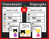 The /sh/ Digraph - Activity, Worksheets, Phonics Cards, Basic Lesson Plan