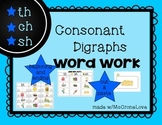 Consonant Digraphs sh ch th Sort & Word Work