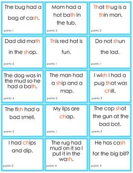Consonant Digraphs -sh, -ch, -th mixed