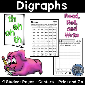 Consonant Digraphs SH, TH, WH, CH Worksheets