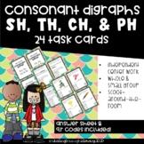 Consonant Digraphs- th, ch, sh & ph Task Cards