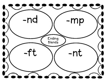 Consonant Ending Blends Sort