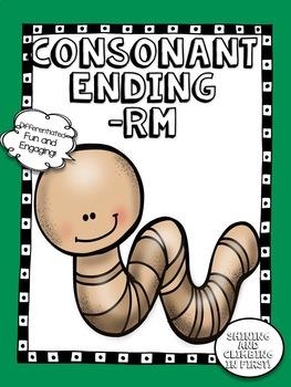 Consonant Ending -rm - No Prep! Word Work!