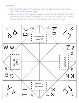 Consonant Fortune Teller #2