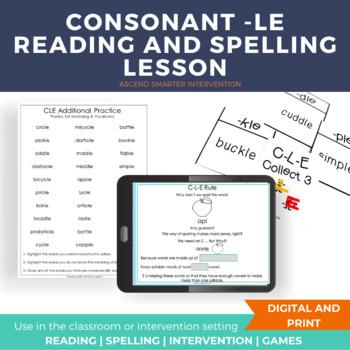 Consonant LE Introduction (CLE) - Orton Gillingham