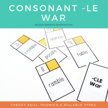 Consonant LE Words War - Orton Gillingham