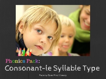 Consonant-Le Activity (uses the Orton-Gillingham Approach)