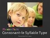 Phonics Bundle: Intro to Consonant-Le Syllable Type (C-le)