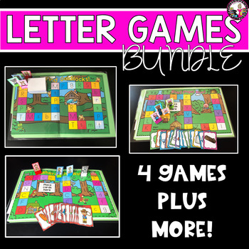 Consonant Letter Games! 3 for 1 price!