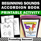 Consonant Letter Sounds and Letter Recognition, Beginning Sounds Book SPS