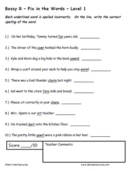 Consonant Patterns - Set of 5 Differentiated Word Work and Vocabulary Packets