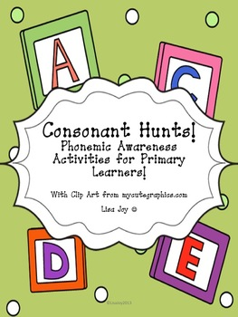 Consonant Picture Hunts!  Phonemic Awareness Activities for Consonant Sounds!
