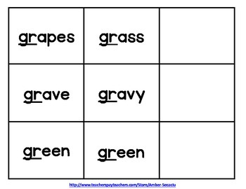 Consonant R Blend Activities and Printables for English Language Learners