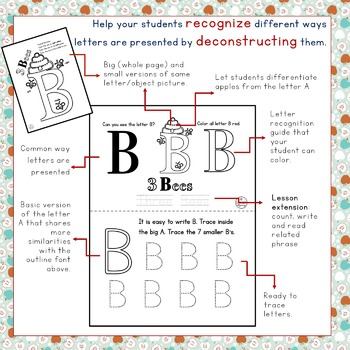 Consonant Recognition and Letter Deconstruction with Extension Activities