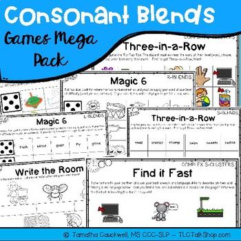 Consonant Sequences Games Mega Pack