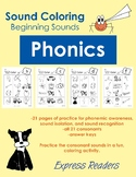 Phonics Sound Coloring - Beginning Consonants